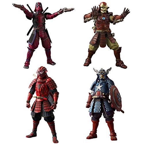 Manga Realisierung Samurai US Team Captain Action-Figur Steel Hero Action-Figur Spider Hero Action-Figur Toter Kellner Action Figure Warrior Styling Action-Figur Modelle Japanischer Samurai-Stil Japan