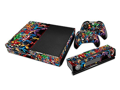 GameCheers Xbox One Konsole and 2 Controllers Skin Set - SuperHero - XboxOne Vinyl