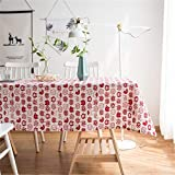 LYJZH Chat Mignon Coton Coton Linge de Table Art Petit Frais Maison rectangulaire Salon Table Basse Tissu Chiffon Chiffon Chat Rouge 90 * 90 cm