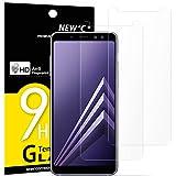 NEW'C Verre Trempé pour Samsung Galaxy A8 (2018),[Pack de 2] Film Protection écran - Anti Rayures - sans Bulles d'air -Ultra Résistant (0,33mm HD Ultra Transparent) Dureté 9H Glass
