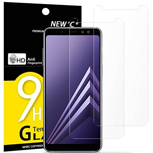 Pack de 2 Verre Trempé Samsung Galaxy A8 (2018), NEWC® Film Protection en Verre trempé écran...