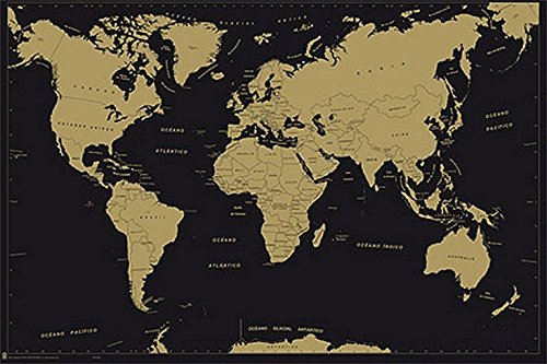 Grupo Erik Editores Poster Mapa Mundo Es Politico