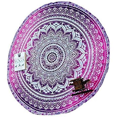 Principessa rotonda Mandala Arazzo Spiaggia Coperta da picnic tappetino da yoga arazzo da parete