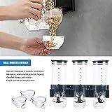Contenitore per alimenti a parete - Dispenser per cereali, vaschetta per cereali in plastica Barattolo trasparente per cucina
