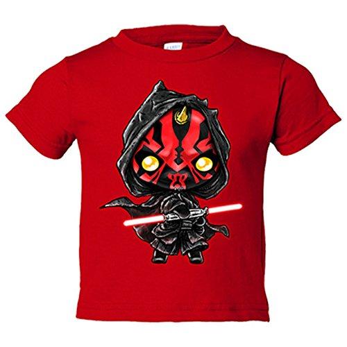 Camiseta niño Star Wars Darth Maul Kawaii - Rojo, 7-8 años
