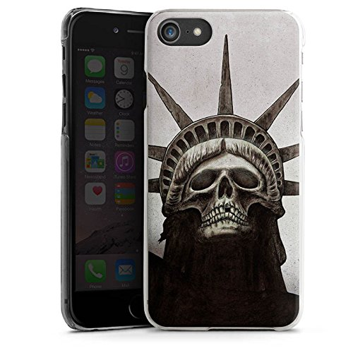 Apple iPhone X Silikon Hülle Case Schutzhülle Freiheitsstatue Skull Totenkopf Hard Case transparent