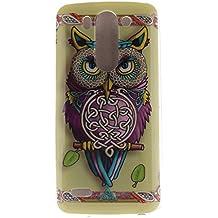 Guran® Silicona Funda Carcasa para LG G3 Beat / LG G3S / LG G3 Mini Smartphone Case Bumper Shock TPU Cover-Búho