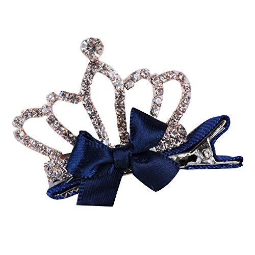 tal Crown Haarschmuck Hair Clip Pin mit Krokodilklemmen for Kinder (Blau) (Einfache Halloween-skelett Basteln)