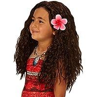Peluca Rubie 's con flores, accesorio de disfraz de Vaiana de Disney