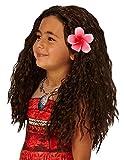 Rubies Peluca s con flores, accesorio de disfraz de Vaiana de Disney