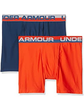 Under Armour O-Series 2 Pack Bóxers, Niños, Naranja (Dark Orange), YXL
