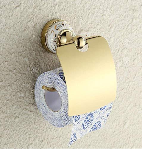 Gold Luxuriöse Toilettenpapier Halter Wandmontage Badezimmer Zubehör Inhaber Seifenspender Keramik Base Gewebe Storage Organisation Roll Papierrollenhalter Für Zu Hause Badewanne Küche -