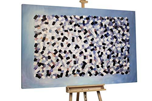 'Grayscale' 180x120cm | Abstrakt minimalistisch XXL | Modernes Kunst Ölbild