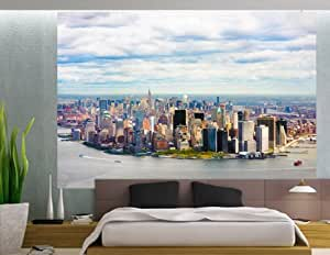 Vue de New York City, Manhattan Papier peint photo. Grand Peel & Stick autocollant mural.