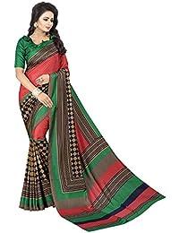 PRAMUKH STORE Greeny Checks Saree For Women's Maalgudi Silk Saree With Blouse Piece, Green And Multi Color Saree...
