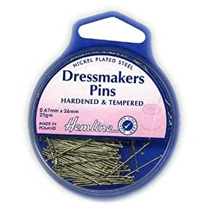 Tempered Steel With Pincushion Pony 26mm x 25g Dressmakers Pins