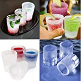 JERN 4 Cup Glass Shape Silicone Ice Cube...