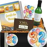 Geschenkidee 32. Jubiläum | Geschenkpaket Weinkenner | Geburtstagsgeschenk 32