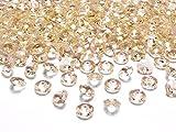 Kristalle Gold Diamanten Streuteile Dekosteine Tisch Deko Hochzeit 100 STÜCK Ø12mm (Gold)