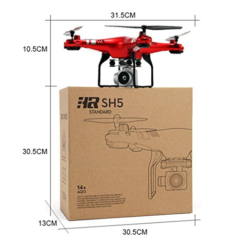 WYXlink 2017 Wide Angle Lens HD Camera Quadcopter RC Drone WiFi FPV Live Helicopter Hover (Red) - 3