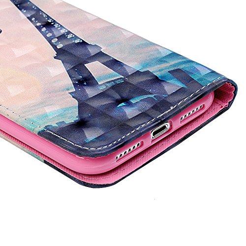 iPhone X Flipcase YOKIRIN Wallet Case für iPhone X Handyhülle 3D Effekt Farbmalerei Flip Case Hardcase Schutzhülle Ledertasche PU Leder Huelle Stand Halter Innere TPU Handytasche Schale Bookstyle Port Tower