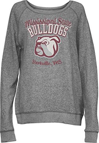 Three Square by Royce Apparel NCAA Junior Blythe Knobi Crew Fleece, Damen, grau meliert, X-Large Scoop Neck Fleece Sweatshirt