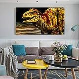 RTCKF Poster e Stampa Wall Art Tela Pittura Decorazione murale Immagine Astratta Tirannosauro per la Decorazione del Soggiorno (Senza Cornice) A4 40x80 cm