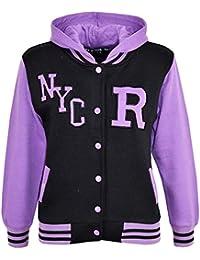 A2Z 4 Kids® Bambini Ragazze Ragazzi R Fashion NYC Baseball con Cappuccio Giacca  Varsity Felpa 5e27c366002