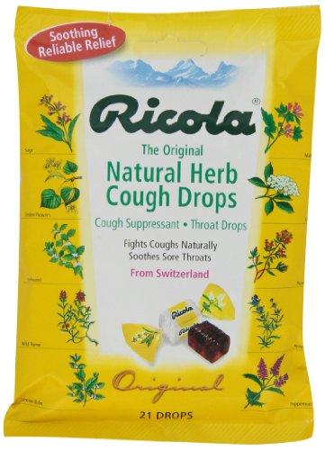 Ricola Pastilles antitussives pour la gorge - Formule originale au menthol et aux extraits de plantes des Alpes - 21/paquet (12 paquets)