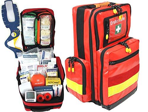 Erste Hilfe Notfallrucksack für Sportvereine, Freizeit & Event - Plane mit gelben Reflexstreifen