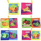 #4: Kids Real Fruits Montessori Theme Cloth Book with Bright Color Pictures Toddler Baby Learning Toys