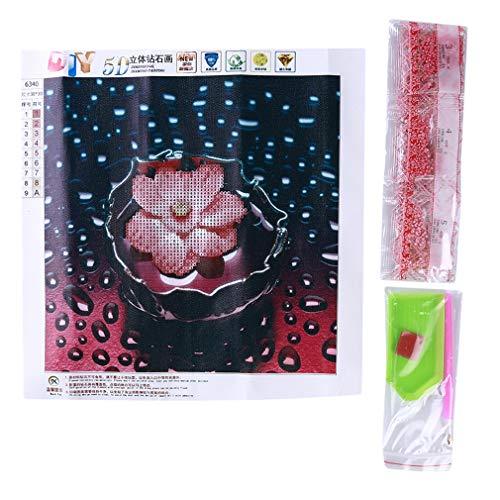 L_shop Wasser Blume Diamant malerei Lotus Muster Bohrer Strass malerei floral kristall Stickerei -