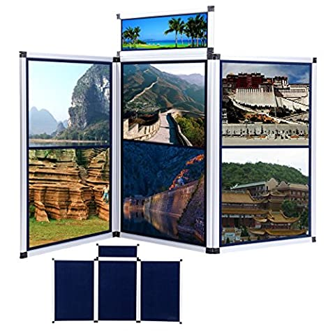 Iglobalbuy 3 Panel Folding Screen Trade Show Tisch Top Display Room Teiler mit carring Tasche