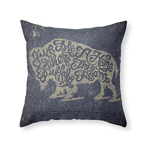 xiangwangdeli Give Me A Home Where The Buffalo Roam Throw Pillow Indoor Cover (18