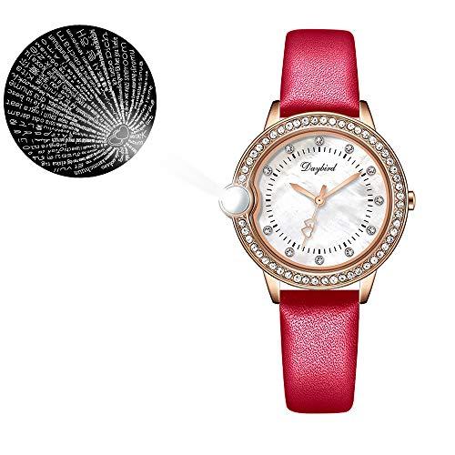 Ich Liebe Dich in 100 Sprachen Uhr Armreif Schmuck Geschenkset, die Erinnerung an die Liebe Nanotechnologie Iced Out Uhr für Frauen Geburtstag Valentinstag