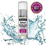 Retinol Cream - Best Anti Aging Night Cream & Anti Wrinkle Face Moisturizer - 2.5% Vitamin A - Skin Tightening & Collagen Booster - Organic & Natural - Skin Care Treatment for Fine Lines - 1.25oz