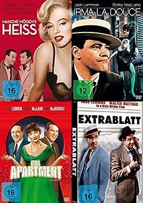 Billy Wilder & Jack Lemmon - Klassiker Collection MANCHE MÖGENs HEIß + IRMA LA DOUCE + DAS APARTMENT + EXTRABLATT 4 DVD Edition