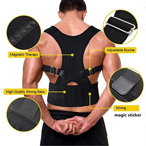 Corrección De Postura Cinturón Corrector Ortopédico Recto Corsé Corsé Soporte Para La Espalda Postura Correa Correctora Para Hombres Vendaje Del Hombro Cinturón Para El Dolor De Espalda, S: (76Cm-90Cm