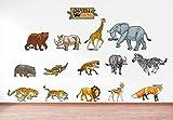 #9: Rawpockets 'Caution Wild Animals - Kids Room ' Wall Sticker (PVC Vinyl, 120 cm x 60cm)