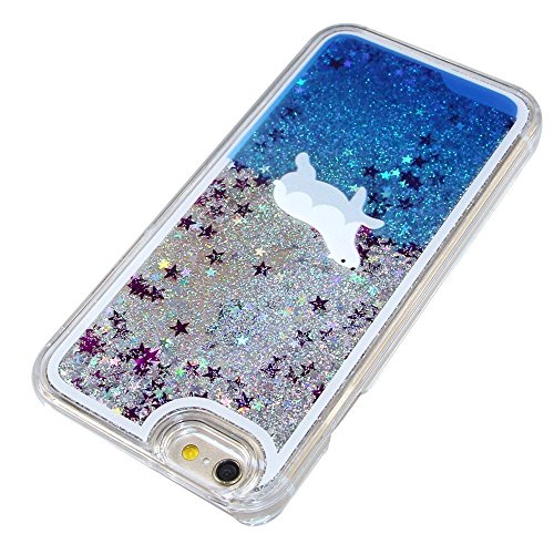 iPhone 6S Hülle,iPhone 6 Hülle,iPhone 6S Case,EMAXELERS Christmas Series Hard PC Case Phone Holster Transparent Handy-Tasche Hülle Cute Santa Claus Muster Glitter Flowing Bling Hülle Etui Schale Case  Animal Series 3