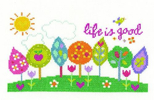 dmc-life-is-good-cross-stich-kit-100-percent-cotton-multi-colour-pack-of-4