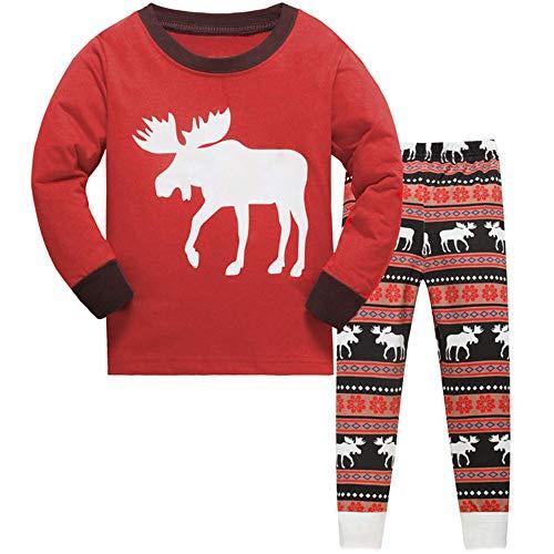 369d6f8257 TEDD Christmas Pjs Kids Pyjamas Set for Boys Nightwear Cotton Toddler  Clothes Girls Fun Reindeer Sleepwear