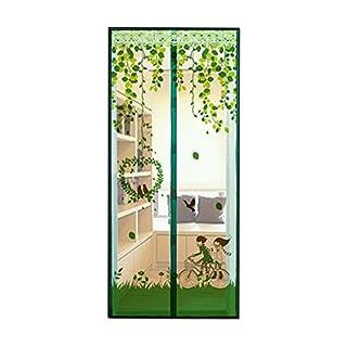 AIU Insektenschutz Sommer Moskitonetz Fliegengitter Magnetvorhang Fliegenvorhang (90 x 210cm, grün)