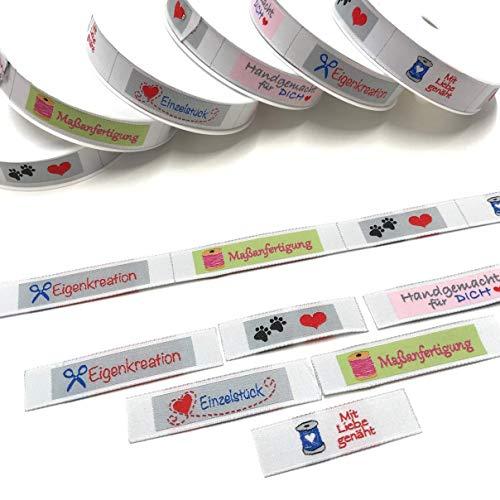 Webbänder 3m Handgemacht Breite 1,5cm 100% Polyester (Handgemachte Etiketten)