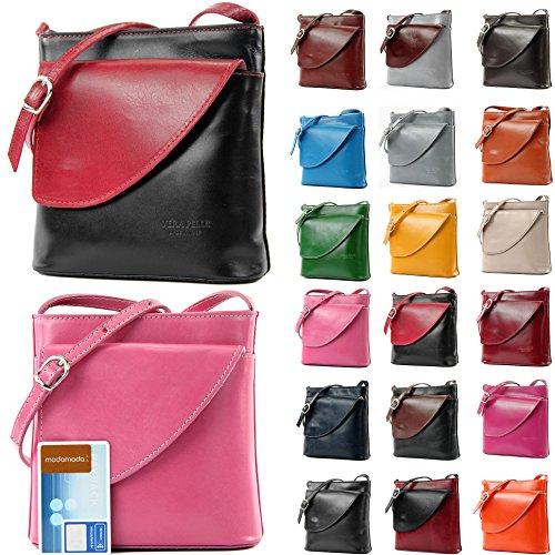 Borsa borsa a tracolla linea donna italiana borsa a tracolla piccola borsa D1 Pink