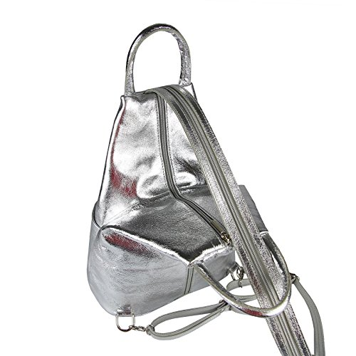 OBC Only-Beautiful-Couture, Borsa a zainetto donna marrone Taupe V1 ca. 25x30x11 cm (BxHxT) argento
