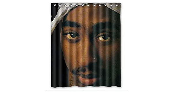 Cool 2Pac Tupac Shakur Shower Curtain Pop Design Amazoncouk Kitchen Home