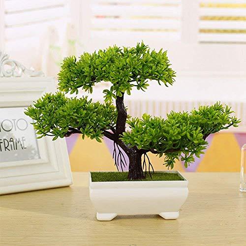 Alberi artificiali decorativi con la fioritura bonsai moderna del feng shui simulazione fiori albero (multi-color multi-stile),b,green