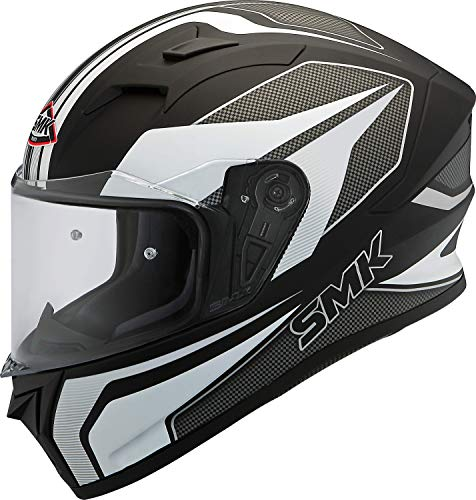 SMK Helmets Men's MA216 Dynomo Graphics Pinlock Fitted Full Face Helmet with Clear Visor (Large)