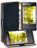 moex® Booklet mit Flip Funktion [360 Grad Voll-Schutz] für BlackBerry Passport | Geldfach & Kartenfach + Stand-Funktion & Magnet-Verschluss, Schwarz